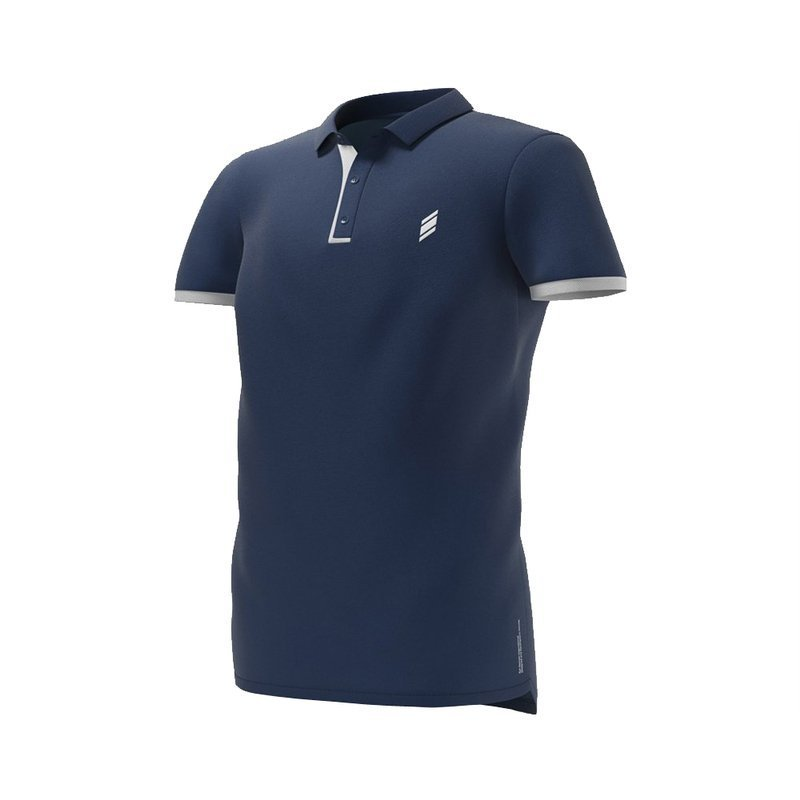 Eye Polo T-Shirt Navy/White