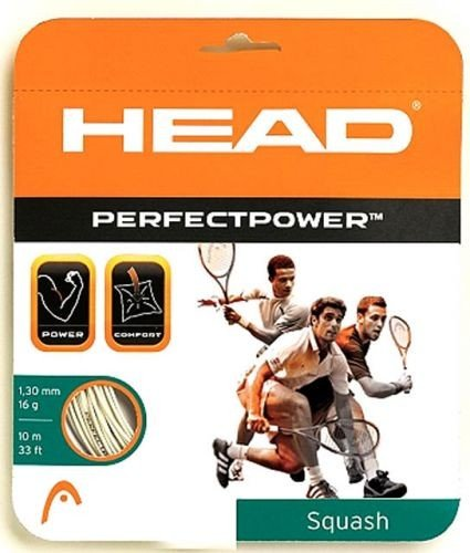 Naciąg squash Head Perfect Power 1,30 mm Biały